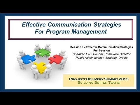 Effective Communication Strategies For Program Management - From
