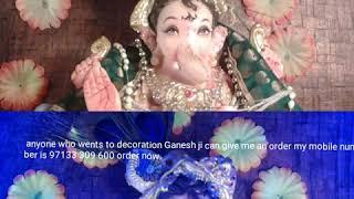 Ganesh decoration decorate by Nidhi Rathore