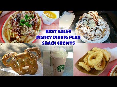 Best value Disney dining plan snack credits : Disney World