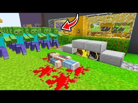 ARKADAŞIM ZOMBİ KIYAMETİNDE ÖLDÜ ÜZGÜNÜM! 😭 - Minecraft