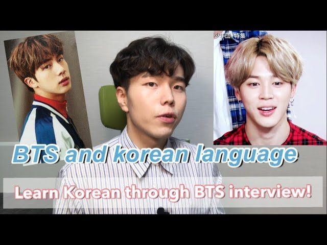 Bts And Learning Korean Language Super Easy Bts Interview Press Conference