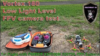 ImmersionRC Vortex 180 | Low-Light Flight Test 1 with Foxeer Foxeer XAT600M HS1177 FPV Camera