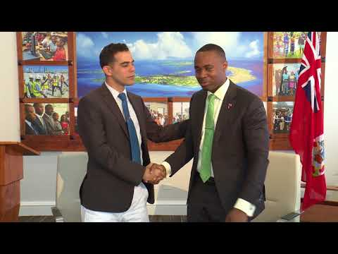 Premier David Burt signs agreement with digital currencies consultant