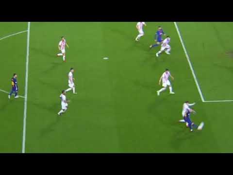 Gerard Pique SENT OFF  HANDBALL DISALLOWED GOAL   Barcelona vs Olympiakos 18 10 2017 thumbnail