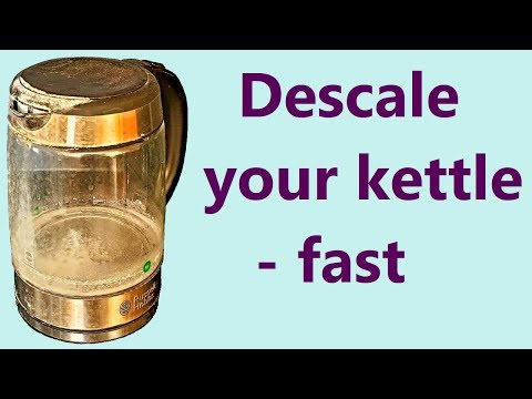 How to descale a kettle with vinegar - fast