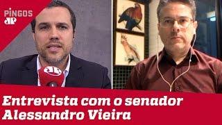 Senador Alessandro Vieira (Cidadania-SE) fala à Jovem Pan sobre CPI da Lava Toga