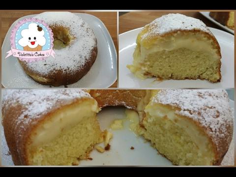 Ciambellone soffice al limone con crema al limone- Lemon curd filled bundt