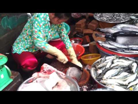 Fresh Fish Market - Saigon Vietnam 2013