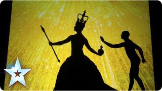 Repeat youtube video Shadow theatre of Attraction with a Great British montage | Final 2013 | Britain's Got Talent 2013