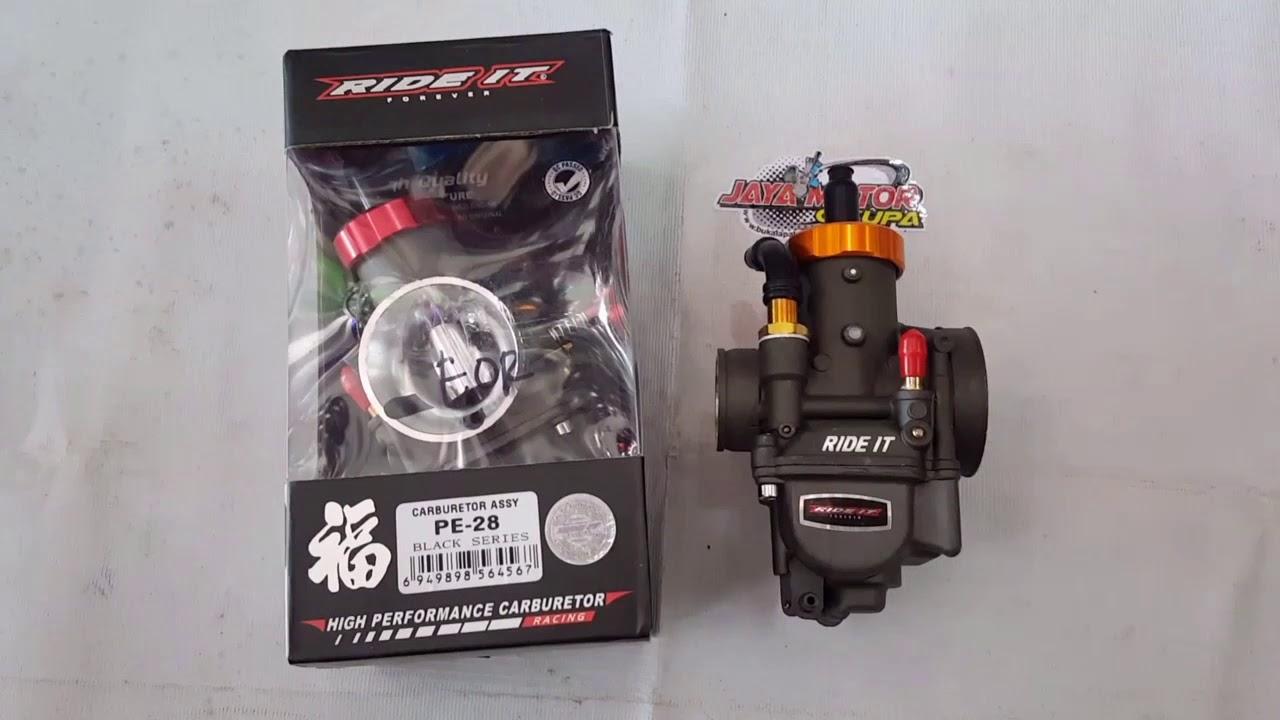 Karburator Ride It Pe28 Black Series Youtube Carburator Pe 28