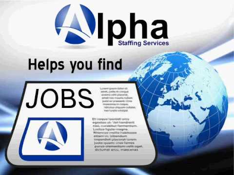 Alpha Staffing Services is here to help you find your next job!