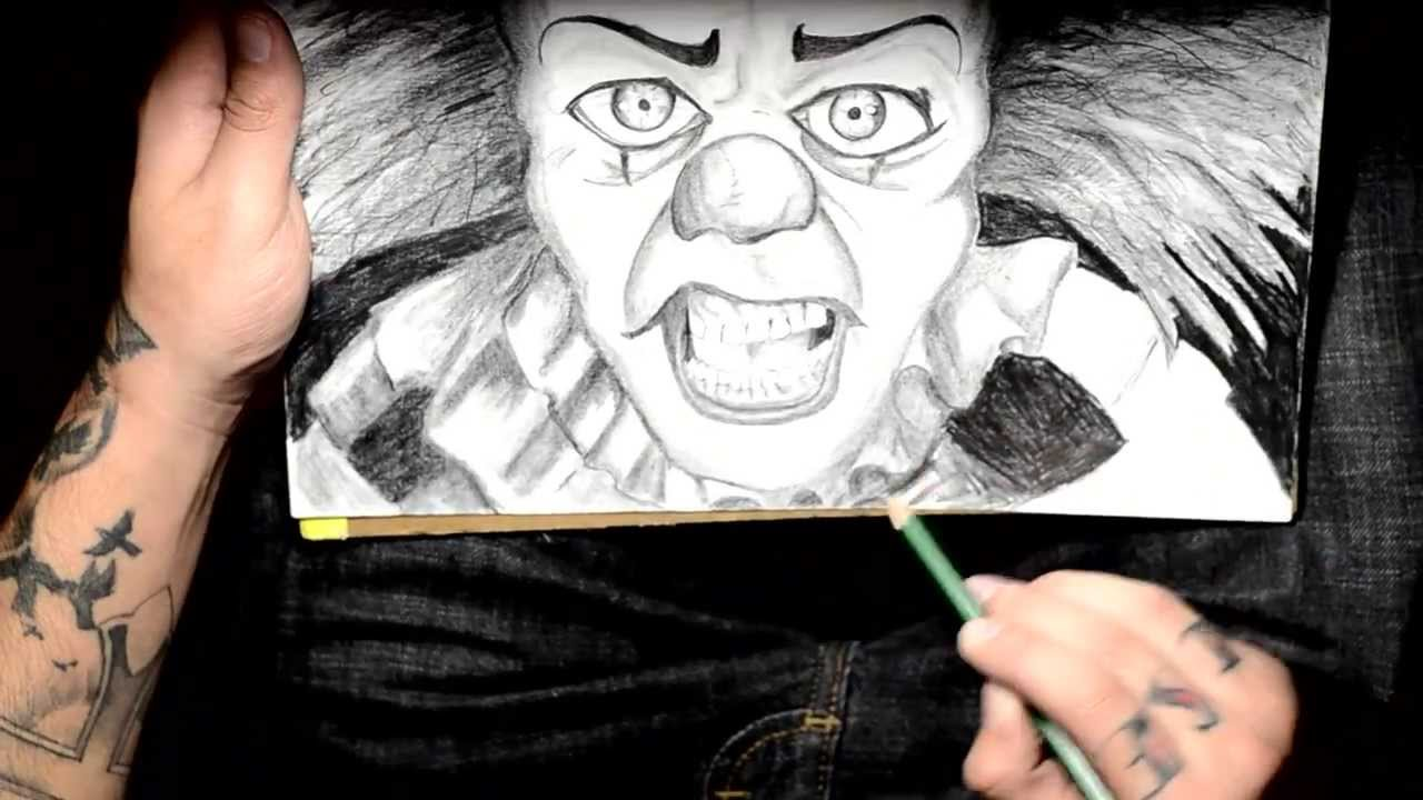 Drawing Ideas Pennywise The Clown Bluddy Pencil Gets