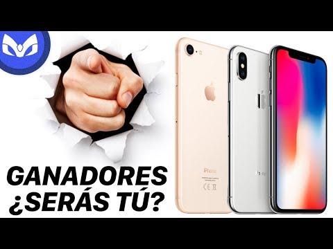 LOS GANADORES DE 2 iPhone X y un iPhone 8 SON: