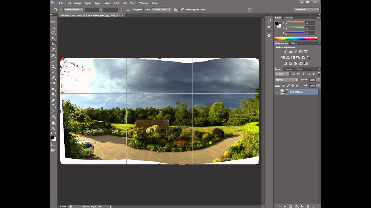 How to make a panorama in Photoshop 48