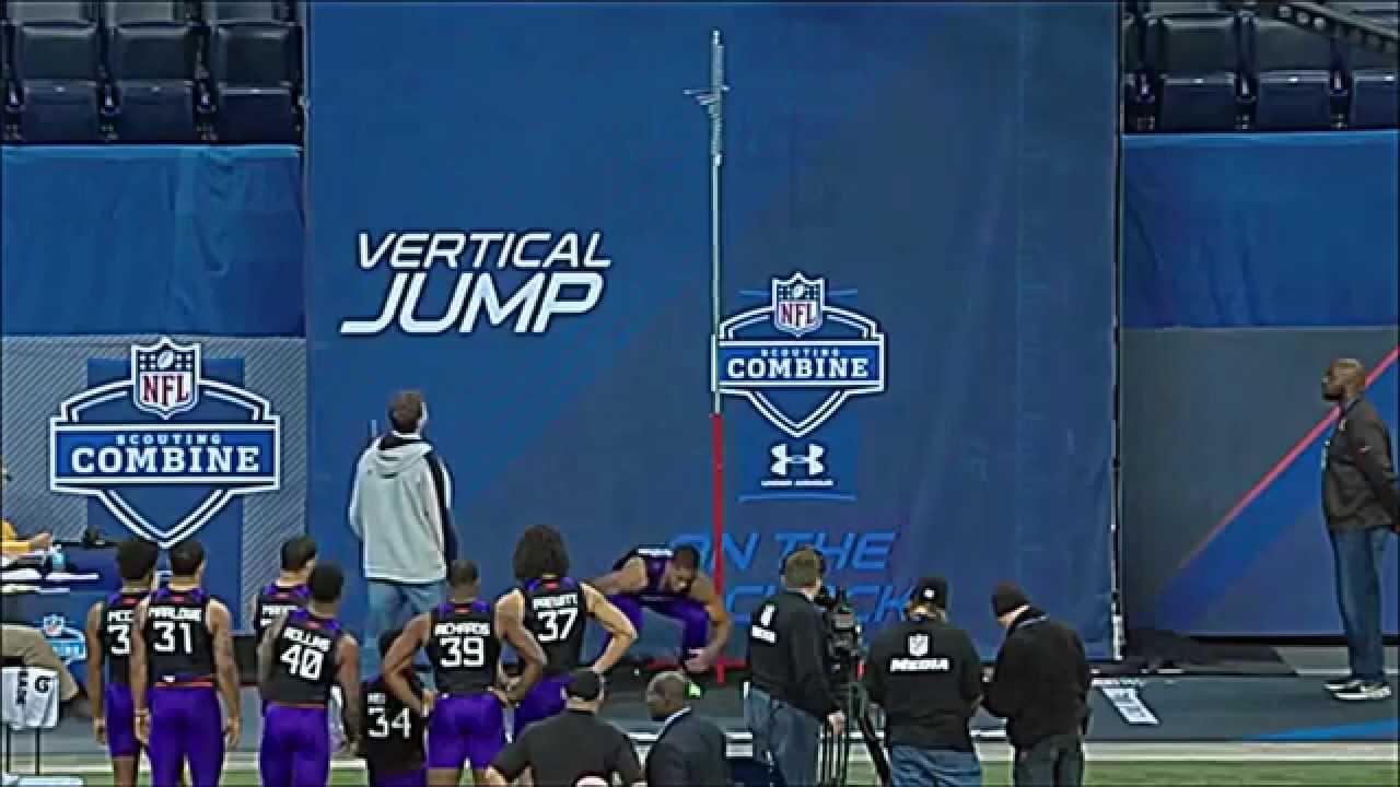 CB Byron Jones broad jump record at 2015 NFL scouting bine 12 3