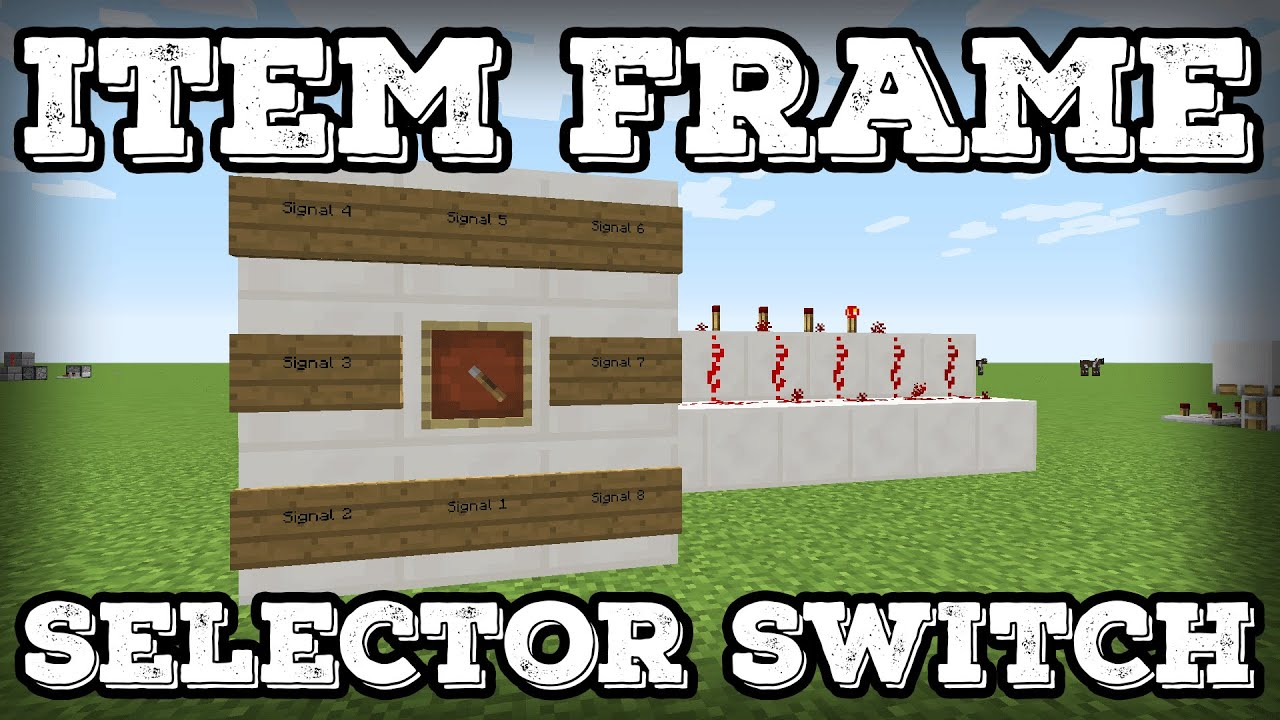 Minecraft Tutorial - Item Frame Selector Switch(1.12+) - YouTube
