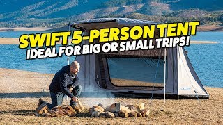 Adventure Kings Swift 5 Person Tent – Great for Trips Big or Small!