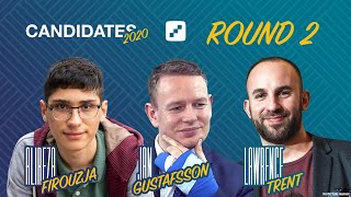 FIDE Candidates 2020 | Round 2 | Live Commentary with Jan Gustafsson and Lawrence Trent