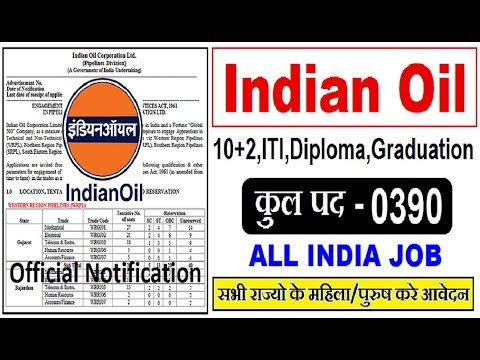 Indian Oil Corporation Limited IOCL Recruitment 2018//Trade & Technician Apprentice//All India Apply