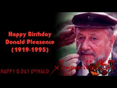 Happy Birthday Donald Pleasence