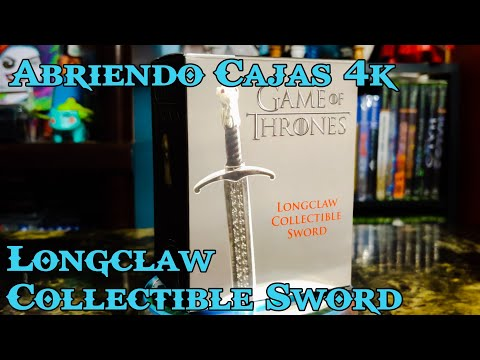 abriendo-cajas-4k:-game-of-thrones-longclaw-collectible-sword-running-press