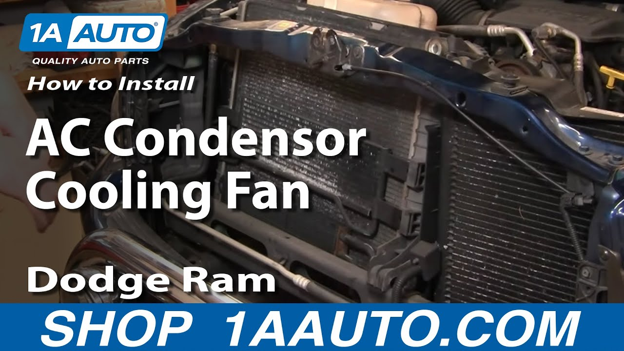 how to replace ac condenser cooling fan 02-08 dodge ram part 1