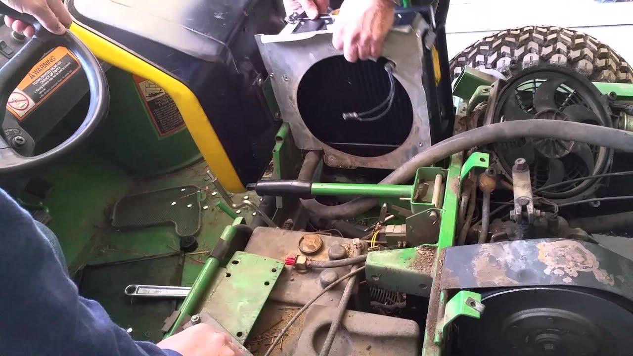 20150421  Replacing radiator john deer gator  YouTube