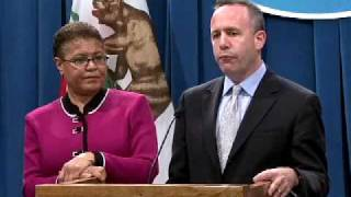Senate President pro Tem Steinberg and Assembly Speaker Bass react to the State of the State