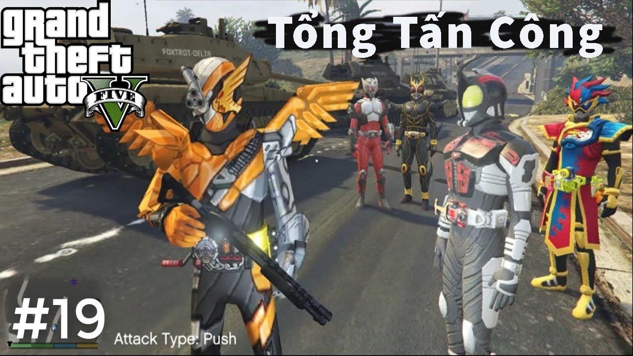 GTA 5 Mod #19 | Kamen Rider Build Cùng 4 Anh Em Siêu Nhân Rider �ại Phá  Quân �ội Và Tẩu Thoát