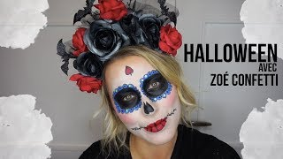 // Maquillage Halloween Santa Muerte avec Zoé Confetti Cournon //