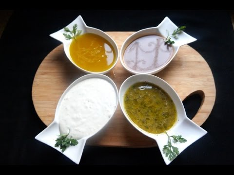 4 Homemade Salad Dressings : Creamy, Sweet, And Tangy