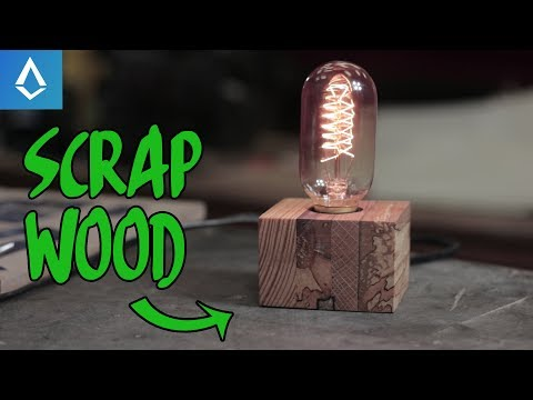 how i made a cool lamp from scrap wood
