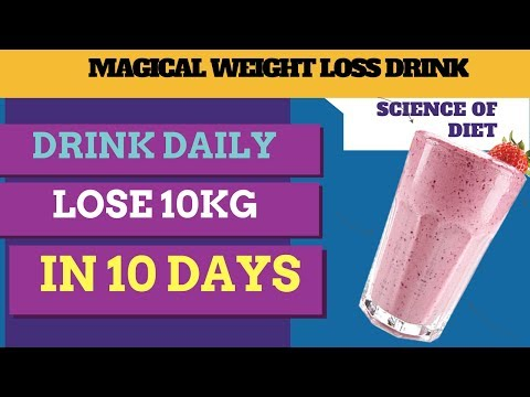 How To Lose Weight 10kg Fast (NO EXERCISE) | Drink This Smoothie For weight loss