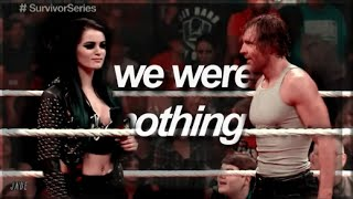 dean ambrose & paige - somebody that I used to know