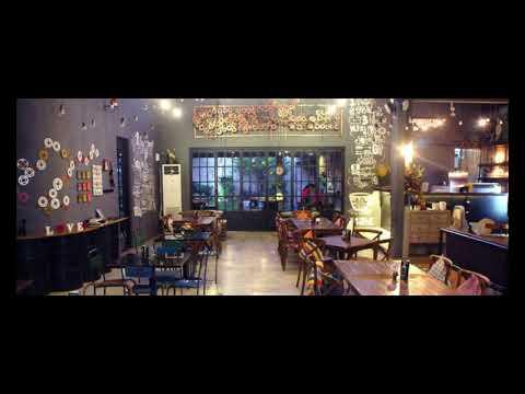 concept of interior and exterior cafe design as creative idea by caloria cafe surabaya