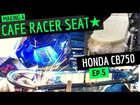 Making A Cafe Racer Seat Frame ☆ Welding Hoop and Fibreglass Seat