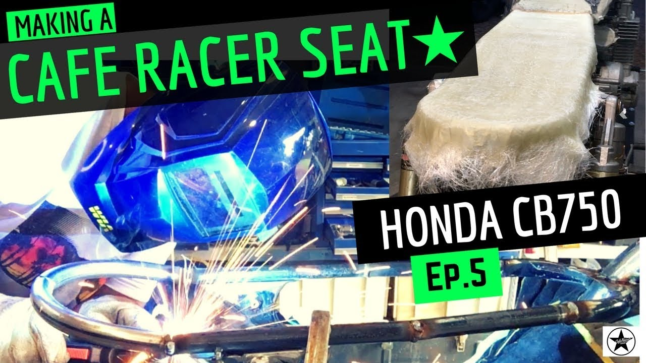 Making A Cafe Racer Seat Frame ★ Welding Hoop and Fibreglass Seat Pan