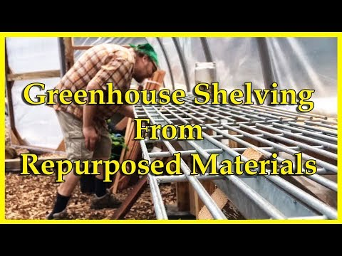 Greenhouse Shelving From Repurposed Materials