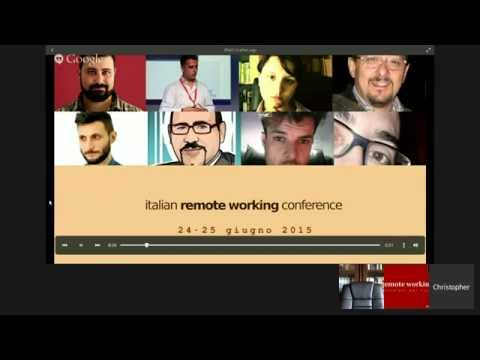 Italian Remote Working Conference - Day 1