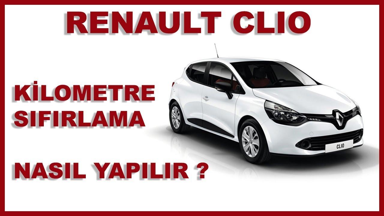 Renault Clio 4 kilometre sıfırlama
