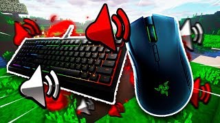 jitter clicking after butterfly clicking for a while.. (keyboard & mouse sounds)