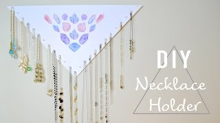 DIY EASY & CHEAP NECKLACE HOLDER- 20+ NECKLACES!