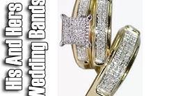 Yellow Gold Trio Wedding Sets - Trio Wedding Ring Sets Yellow Gold