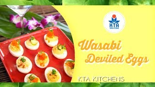 Wasabi Deviled Eggs By Chef Michi