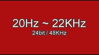 accoustics 1, human hearing ability test tone 20Hz ~ 22KHz, test your headphones as well