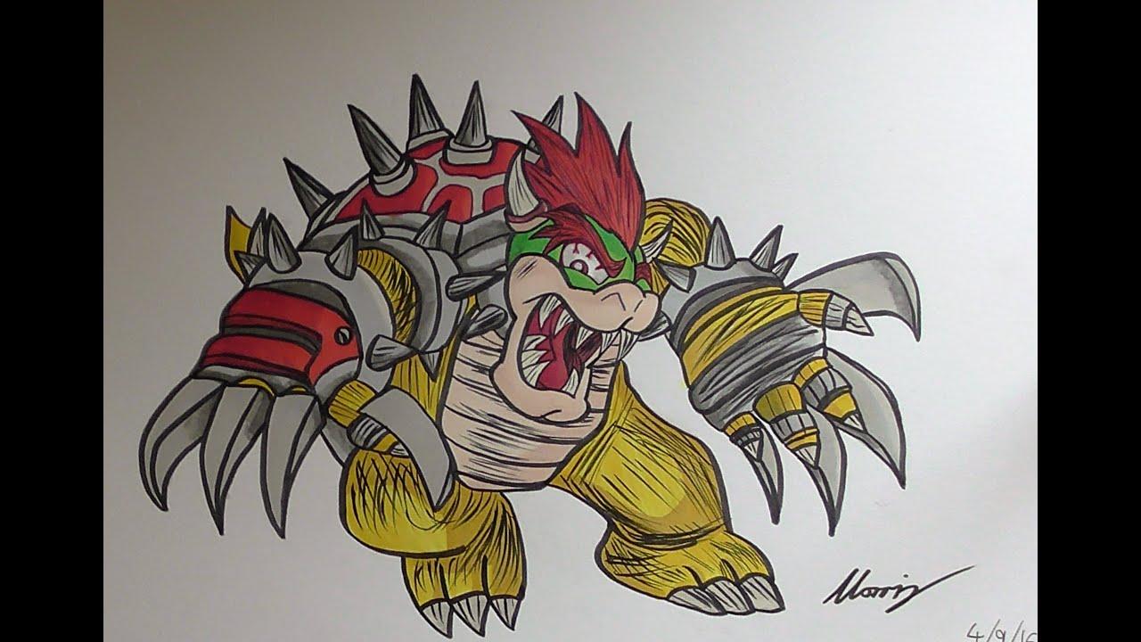 Dibujo Bowser - Super Mario - YouTube