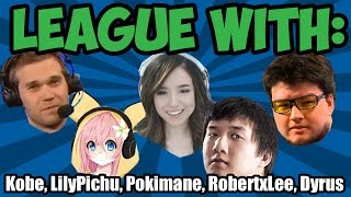 Pokimane plays with Dyrus, Lilypichu, Kobe & RobertXLee