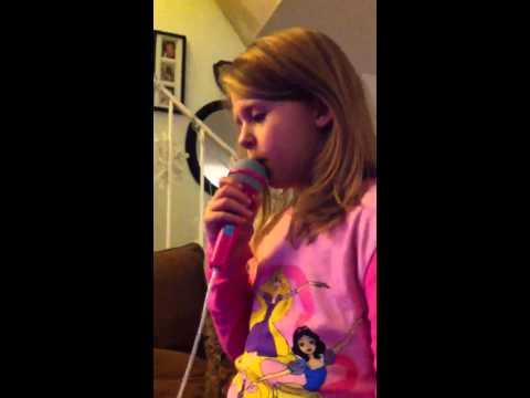 Stapleton Christmas 2012 Audrey trying her karaoke machine