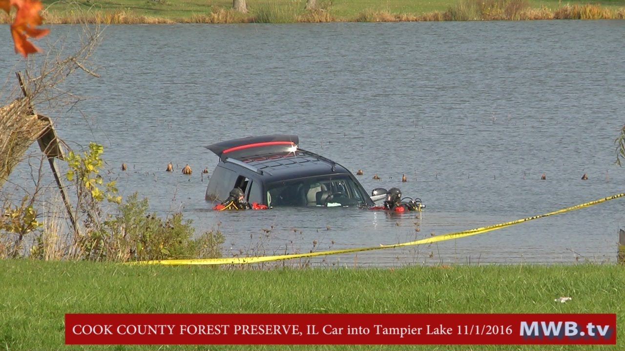 Palos Park Il Car Into Tampier Lake 133rd And Wolf Rd Youtube