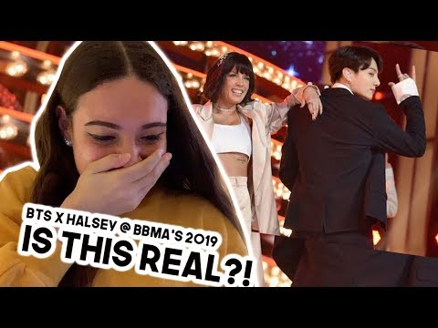 BTS x Halsey: BOY WITH LUV @ BBMA's 2019 [REACTION] - YouTube